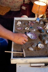 Seashell poetry zen garden by Lydia Sullivan
